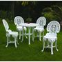 Conjunto Mesa Redonda E 4 Cadeira Colonial Plastico 3 Jogos