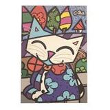 Quadro Canvas - O Gato - Romero Brito (60x40cm)