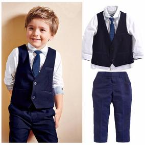 Terno Conjunto Social Masculino Infantil Pajem Camisa Colete