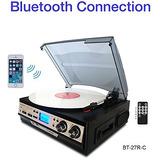 Tocadiscos Boytone Bt-27r-c Conexión Bluetooth Estereo