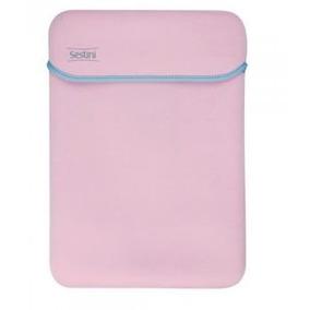 Capa Case Para Notebook Neoprene Rosa Até 15.6 Dupla Face