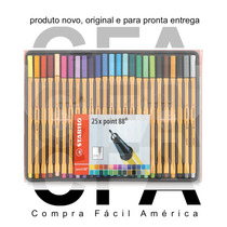 25x Canetas Stabilo Point 88 Fineliner Cores Difer. 8825-1