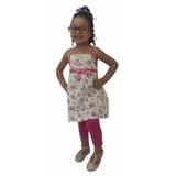 Vestido Bello Para Niñas De Algodón Rym H2666