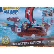 Build Me Up Set De Construcción Bloques Barco Pirata