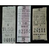 3 Boletos Del Ferrocarril Patagónico