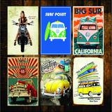 Adesivo Decorativo Carro Moto Garage Rock Vintage 20x30cm