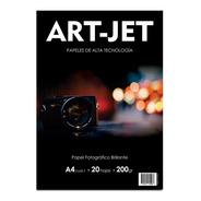 Resma A4 Foto Glossy Brillante 20h 200g Fotografico Art-jet