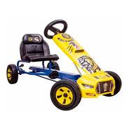 Carrito Montable A Pedales Go Kart Leon Niños Azul Mod. 2020