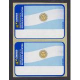 Argentina 2 Labels De Máquinas Franqueadoras Nuevos
