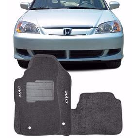 Tapete Carpete Personalizado Honda Civic 2002 À 2006 3 Peças
