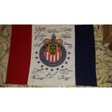 Bandera Oficial De Las Chivas Con Firmas Del Campeon