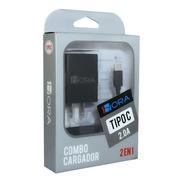 Turbo Cargador Tipo C Usb Datos Carga Rapida Celular 1hora