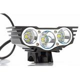 Luz Para Bicicleta 6000 Lumens 3 Leds + Envio Gratis