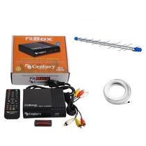 Kit Conversor Digital Century Fitbox+antena Hdtv Digital Pro
