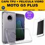 Capa Case Tpu + Pelicula Vidro Moto G5 Plus Dual Xt1683 4g
