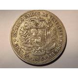Moneda De Plata. Fuerte 5 Bolívares. Año 1.935