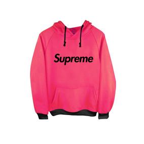 Sudadera Hoodie Supreme Box Logo Swag Rosa-naranja-menta
