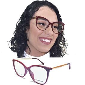 Armação Óculos Grau Feminino Acetato Gatinho Quadrado