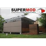 Casa Vivienda Modular Habitacional Prefabricado 36m2 2 Dormi