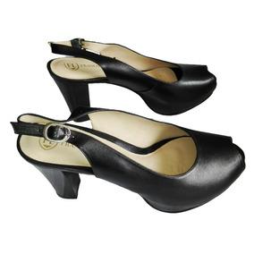 Zapato Mujer Cuero 100% Franco Laconi Taco 9 Vestir Moda