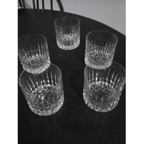 5 Vasos De Whisky Cristal Tallado