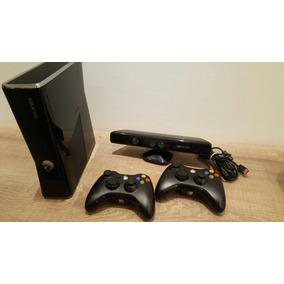 Xbox 360 250gb + 8 Jogos + Kinect + Cabos Originais + 2 Cont