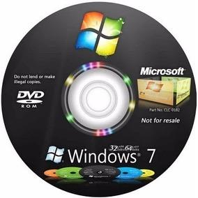 Cd Dvd Windows 7 Todas Versões 32/64 Bits + Chave Original
