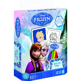 Jogo Das Cores Com Giz De Cera - Frozen