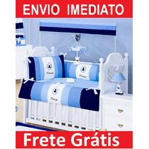 Kit Berço Americano Principe Completo - 100% - Luxo - Menino