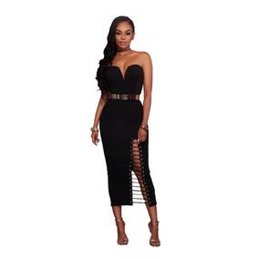 Vestido De Fiesta Negro De Moda
