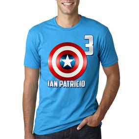 Playera Personalizadas Avengers Capitan America Fiesta!!!