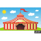 Circo Tenda Painel 3,00x1,60 Lona Festa Aniversário Banner