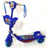 Patinete Infantil 3rodas Homem Aranha Luz Musical Scooter