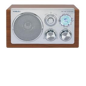 Radio Am Fm Madera Y Aluminio Noblex Rx40m