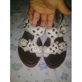 Sandalias Cunas Zapatillas Calor Verano Mujer N4