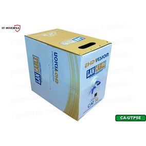 Bobina Cable Utp Cat5e 305mts Redes Seguridad Cctv Certifado