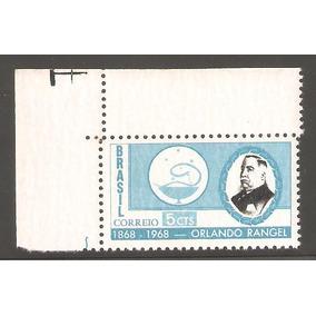 Selo Brasil Marmorizado Mint Rhm C-589y, 1968 Orlando Rangel