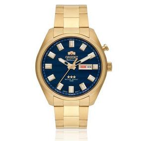 Relógio Automático Orient 469gp076 Mostrador Azul Lindo