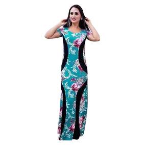 Vestido Feminino Longo Com Recorte Que Emagrece Afina!!!