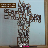 Cruz En Mdf 15cm Recuerdos Baby Shower, Bautizo, Corte Laser