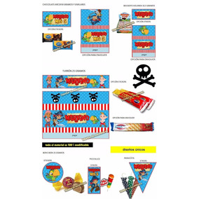 Kit Imprimible Jake Los Piratas Cumpleaños Fiestas Cotillon
