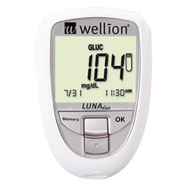 Medidor De Glicose E Colesterol Luna Duo - Wellion