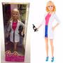 Kit C/ 3 Bonecas Barbie Profissões Cientista, Tenista E Rock