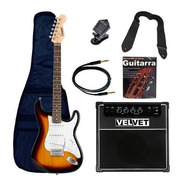 Guitarra Electrica Stratocaster Amplificador 35w Y Afinador