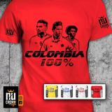 Camiseta Estampada Selección Colombia James Falcao Cuadrado