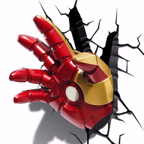 Lampara De Pared Mano De Iron Man O Martillo De Thor, Marvel