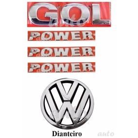 Emblema Gol Power + Laterais Power + Vw Grade - G4 Geração 4