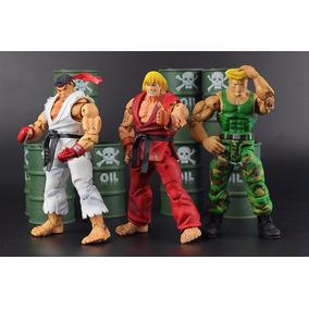 Street Fighter Iv - Kit Com Os 3 Ken - Ryu E Guile Neca