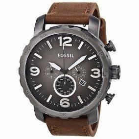 Relógio Fóssil Jr1424 Com Pulseira De Couro
