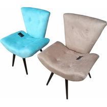 Poltrona Para Sala | Quarto Cadeira Decorativa Pés Palito